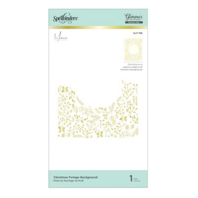 Spellbinders Glimmer Hot Foil Plates - Christmas Foliage Background
